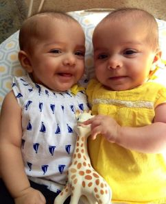 Meet Catalina Grace and Lucy Kendall, our identical twin girls.